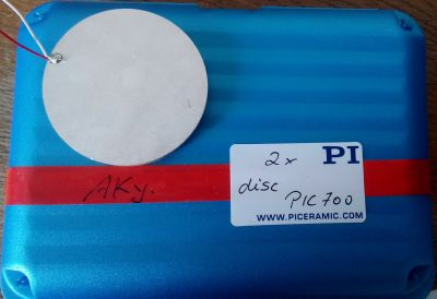 New piezoceramic samples arrived